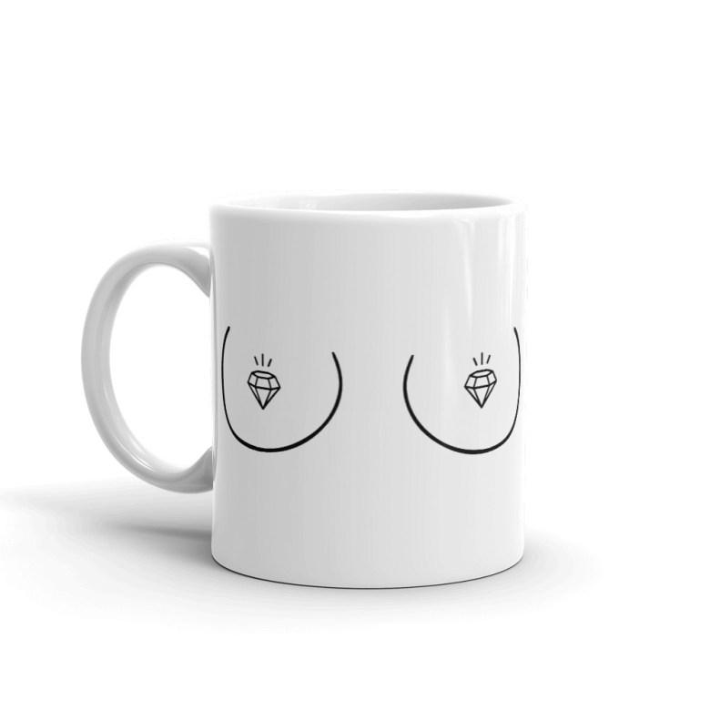 boob coffee mug