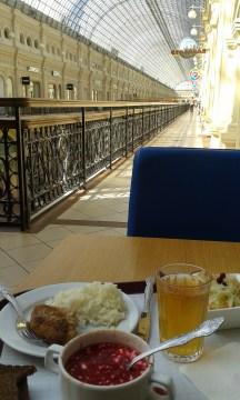 lunch in Stalovoe 57 in GUM shopping center