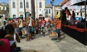 drum group in Terreiro de Jesus