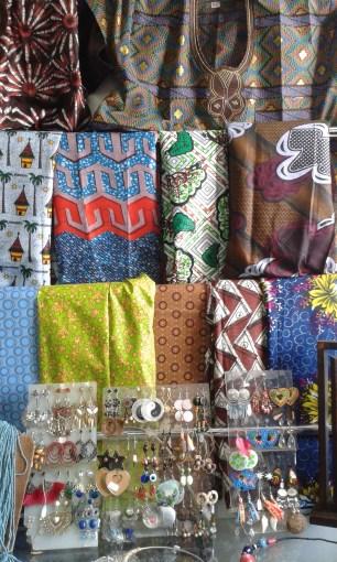fabric in a souvenir shop