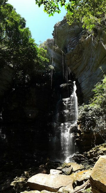 a smaller waterfall as a taster