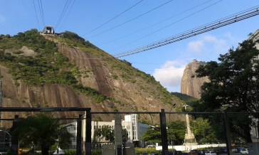 taking the cable car to sugar loaf