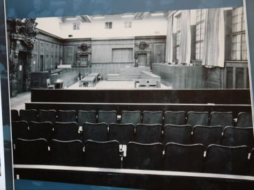 Past: The courtroom was modified especially for the Nuremberg trials