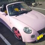 Rady仕様 L880k コペン 自宅でピンクにオールペン(全塗装)施行【用意編】