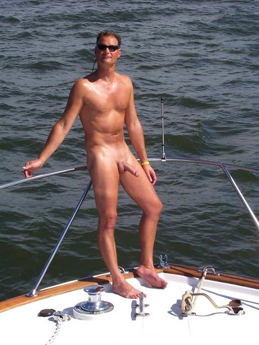 Young dad with a boner on his yacht