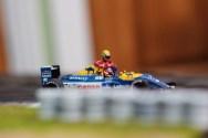 Nigel Mansell & Ayrton Senna, British Grand Prix 1991. Tameo Kit & Denizen figure, built by Bad Wolf Miniatures