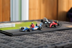 1991 British Grand Prix diorama. Nigel Mansell, Ayrton Senna, Alain Prost & Satoru Nakajima. Tameo kits, Denizen figures, built by Bad Wolf Miniatures