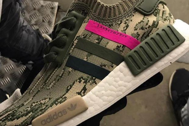 The New adidas NMD_R1 Olive/Pink Looks Like It's From a Gucci Lab