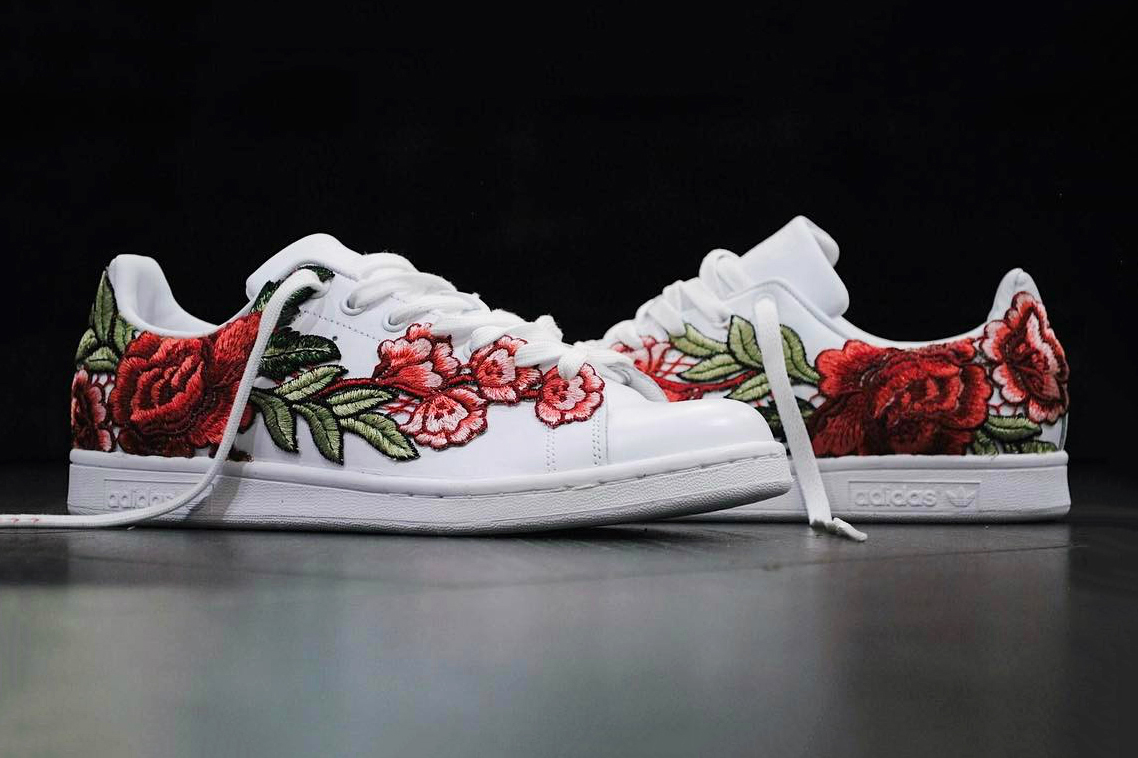 adidas stan smith flower embroidery femme,adidas superstar