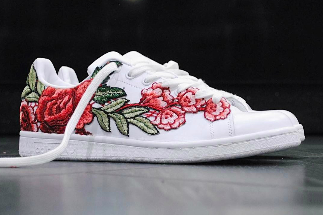 check out adidas stan smith flowerbomb custom hypebae. Black Bedroom Furniture Sets. Home Design Ideas