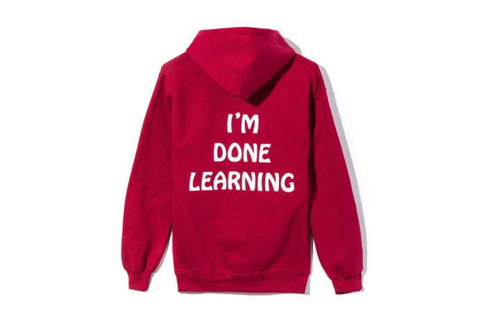 "ALERT: Anti Social Social Club Is ""Done Learning"" on a Just-Released Sweatshirt"