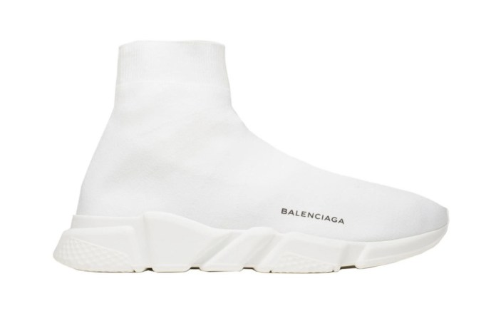 Balenciaga's Knit Sock Speed Trainer Is White as Snow