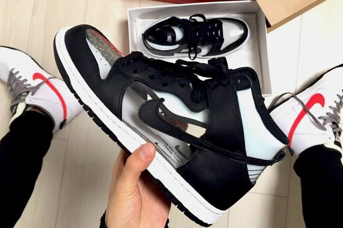 "Do You See? COMME des GARÇONS x Nike Show You a ""Clear"" Dunk High"