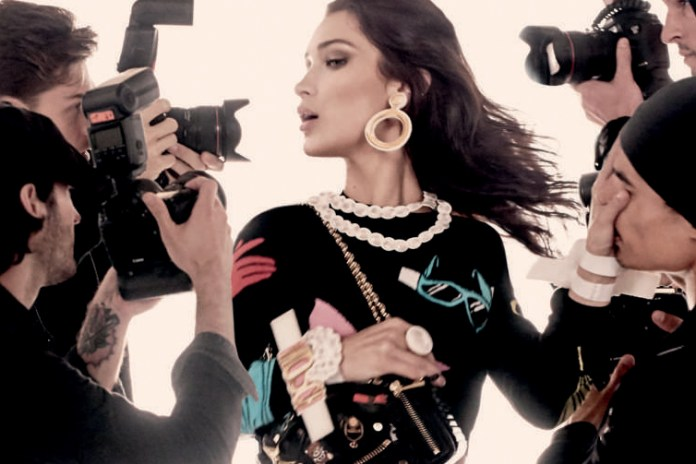 Gigi & Bella Hadid Face the Paparazzi in Moschino's 2017 Spring Campaign