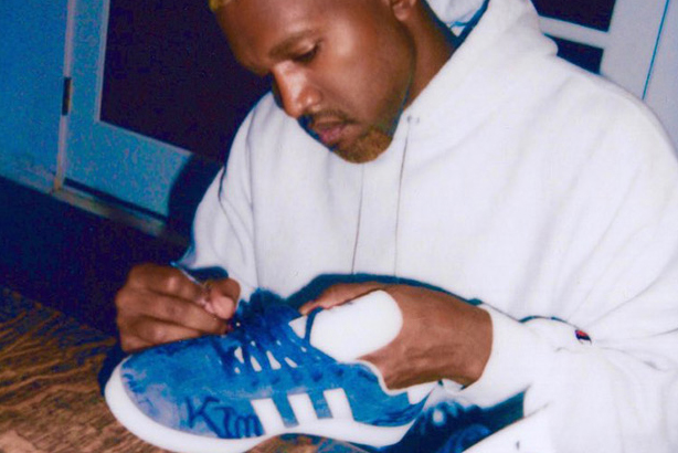 Awww, Kanye West Customized His adidas Gazelles With Sweet Messages for Kim Kardashian