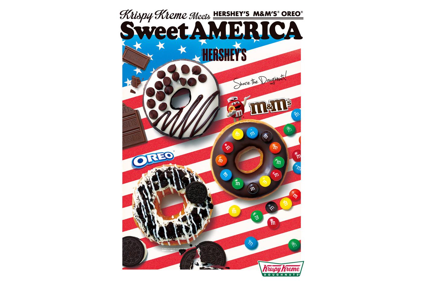 Krispy Kreme Hersheys m&ms Oreo Donuts