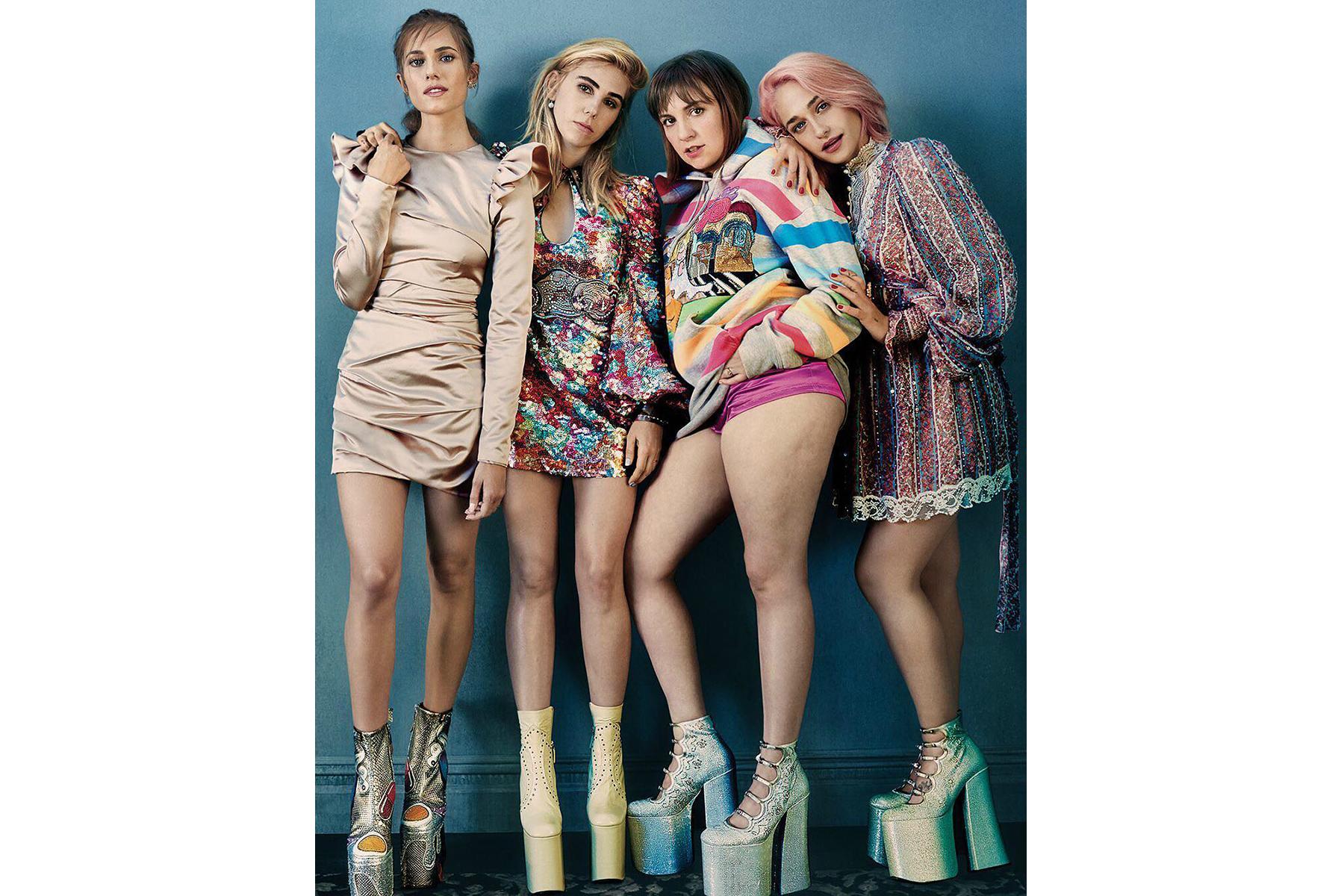 Lena Dunham and 'Girls' Cast on 'Glamour' 2017 February ...