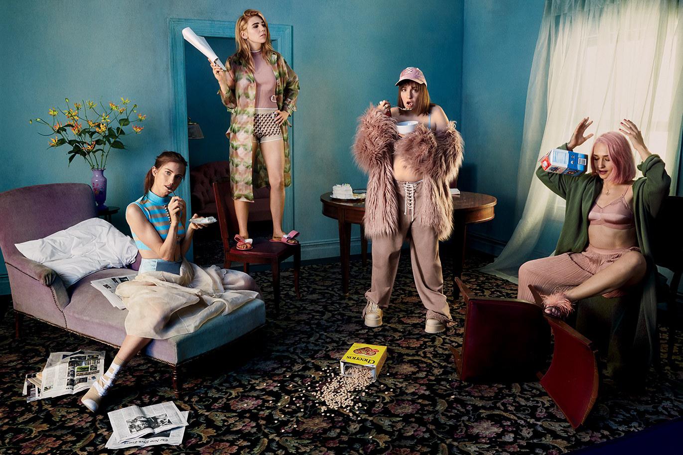 Lena Dunham Girls Glamour Magazine Zosia Mamet - 77516