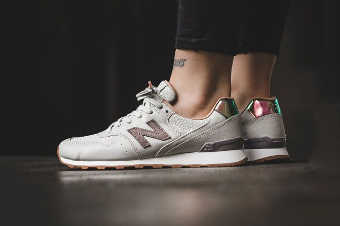 """Iridescent Details Find Home on the New Balance 996 """"Powder"""""""