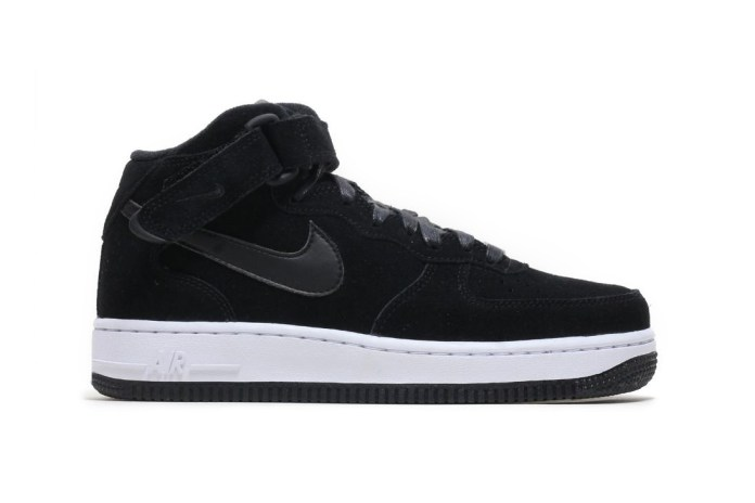 Fancy Up to Nike's Air Force 1 '07 Mid Blanketed in Black Suede