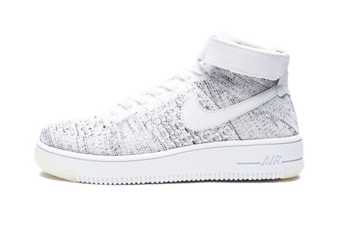 The Latest Nike Air Force 1 Ultra Flyknit Mid Is Covered in Speckled Grey