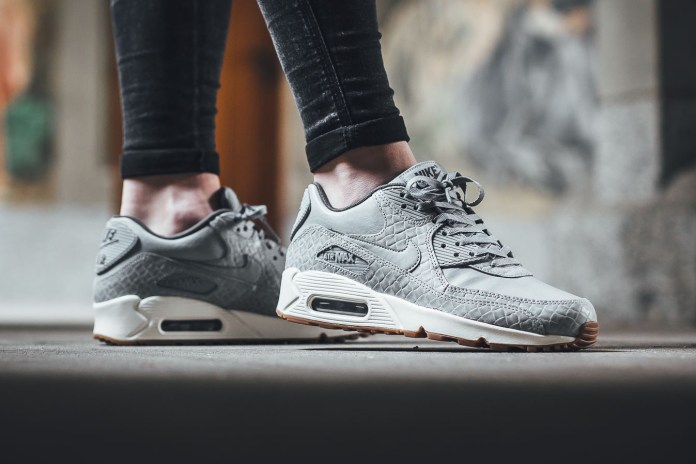 "The Nike Air Max 90 Premium Receives A Chic ""Wolf Grey"" Makeover"