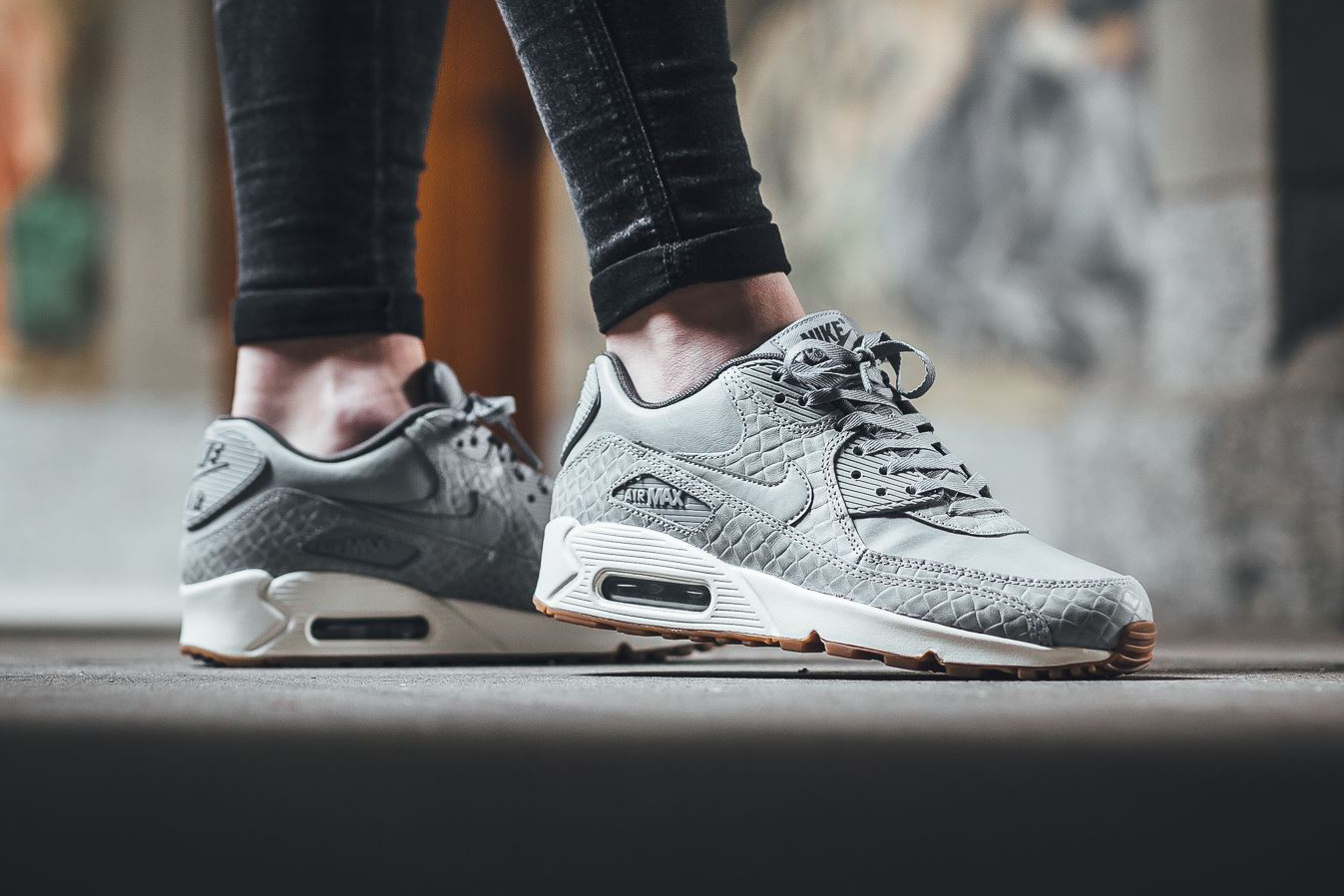 "meet 041c8 50120 Nike Air Max 90 Premium in ""Wolf Grey"""