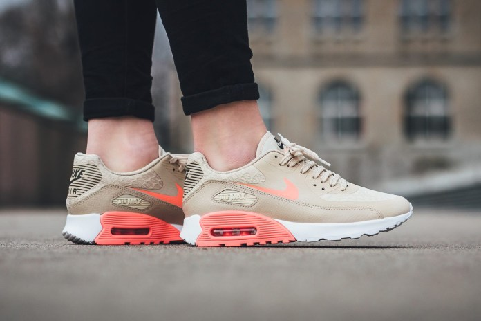 "Nike Gets Ready for Spring with Its Air Max 90 Ultra 2.0 ""Oatmeal/Lava Glow"""