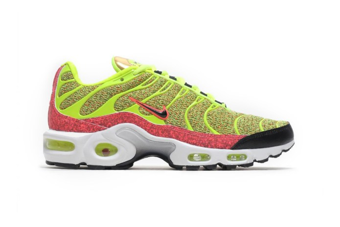 "The Nike Air Max Plus Shocks and Awes in ""Volt/Hot Punch"""