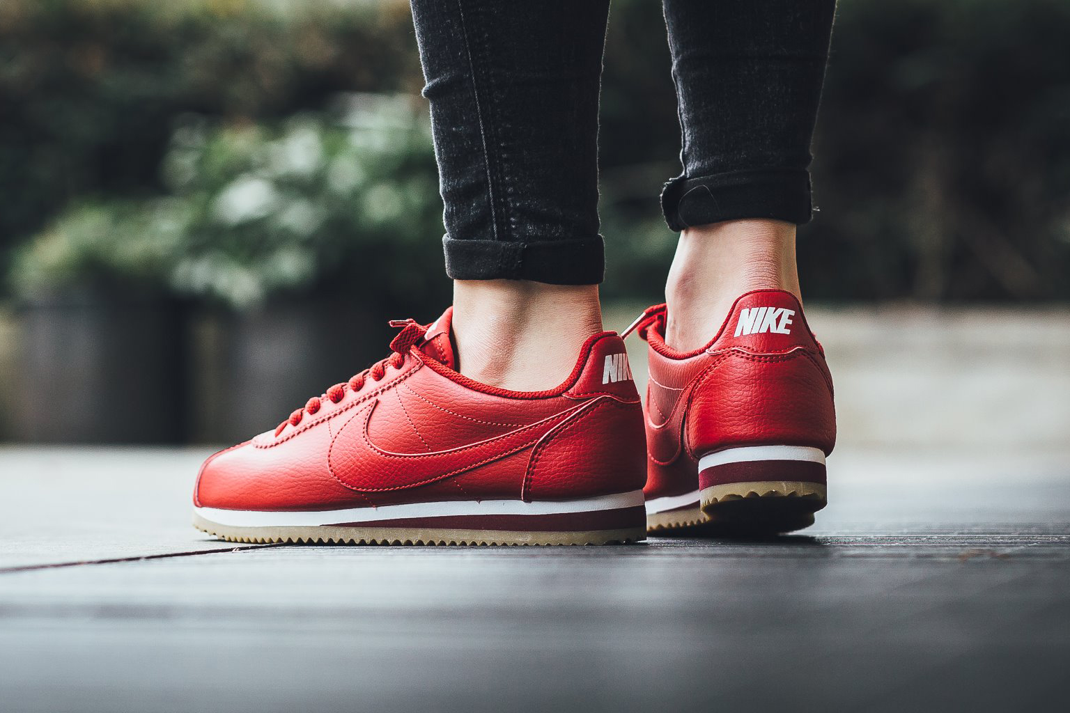 Nike Classic Cortez Leather Gym Red