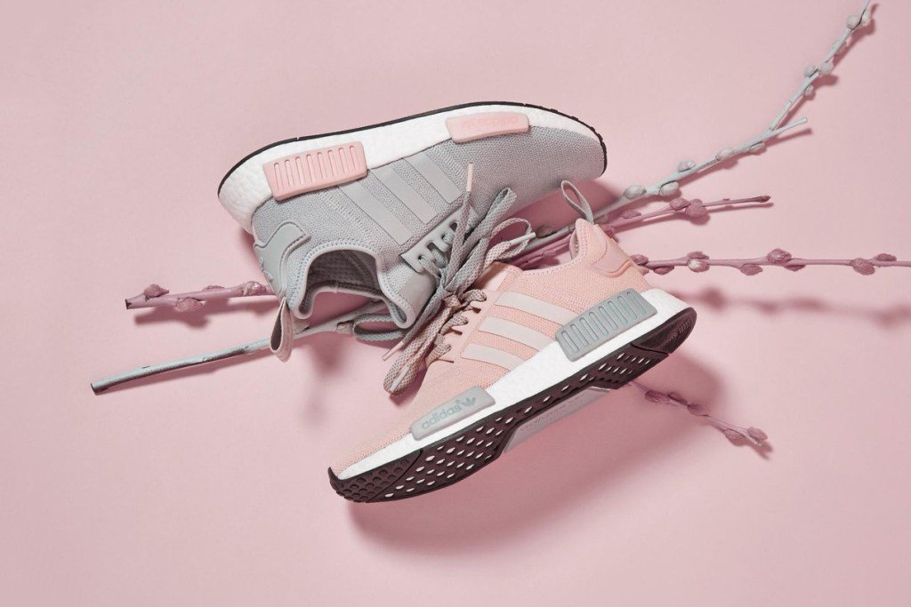 offspring x adidas collaborated on nmd r1 pink grey hypebae. Black Bedroom Furniture Sets. Home Design Ideas