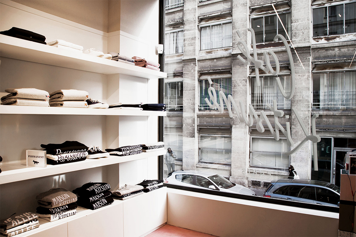 Paris Best Women Streetwear Shop colette Maison Kitsune