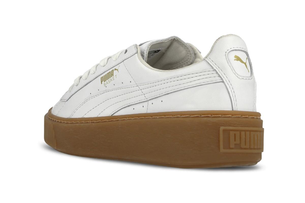 puma basket platform core bianche