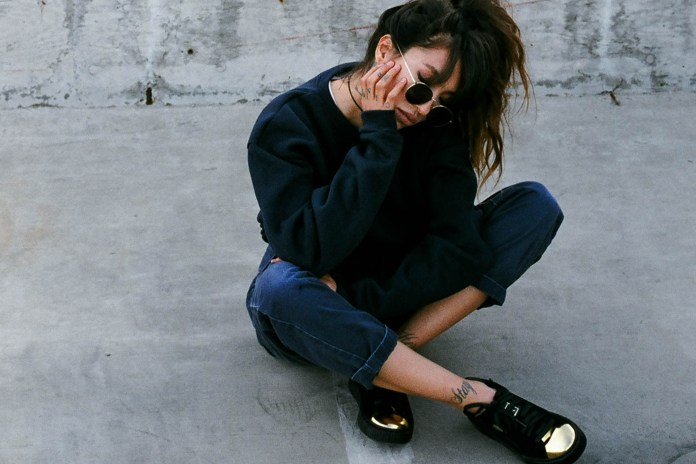 Alie Layus Adds West Coast Cool to PUMA's Suede Platform Gold