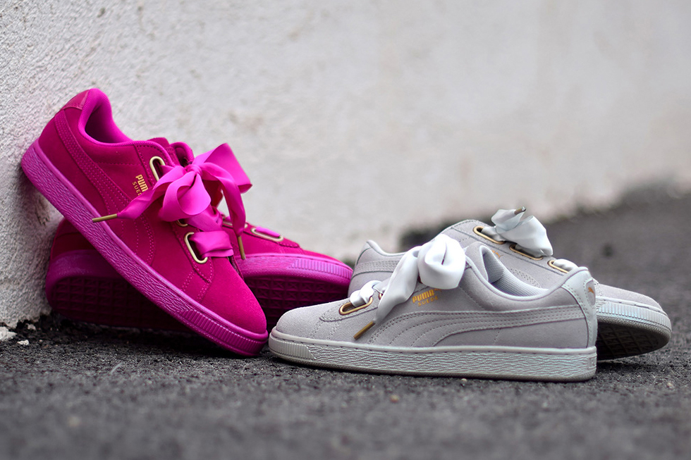 Puma Basket Heart Grey