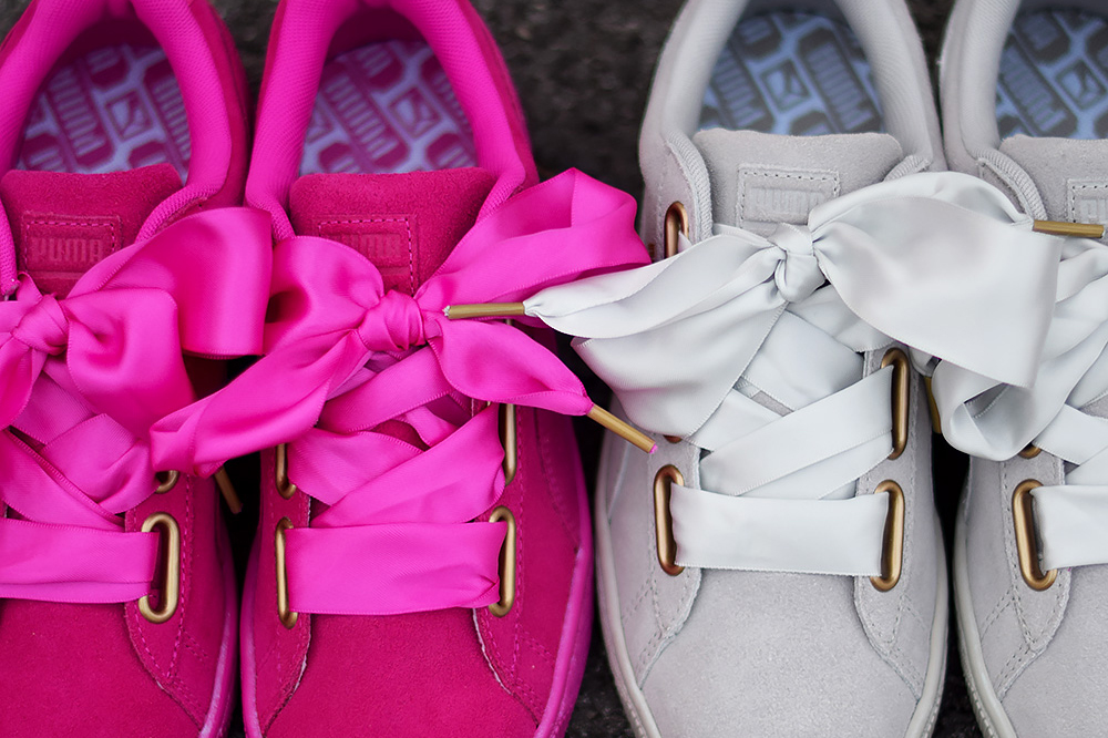 Puma Basket Heart Pink