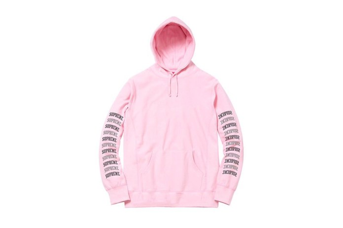 The Supreme 2017 Spring/Summer Leak Shows a Cozy Pink Arc Logo Hoodie