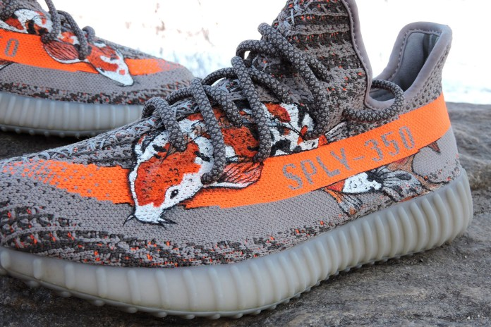 "Take a Dip With a Custom YEEZY BOOST 350 V2 ""Beluga Koi"""
