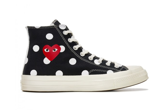 "All Eyes Are on COMME des GARÇONS x Converse's Chuck Taylor '70 ""Polka Dot"""