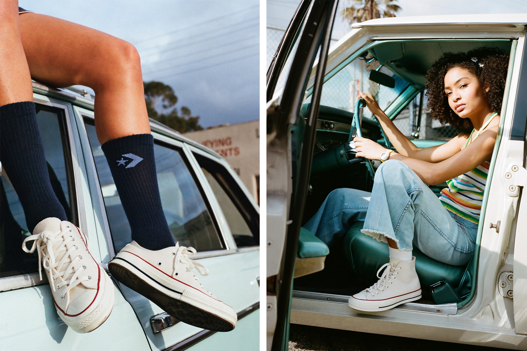 Yara Shahidi Salem Mitchell Converse Lookbook
