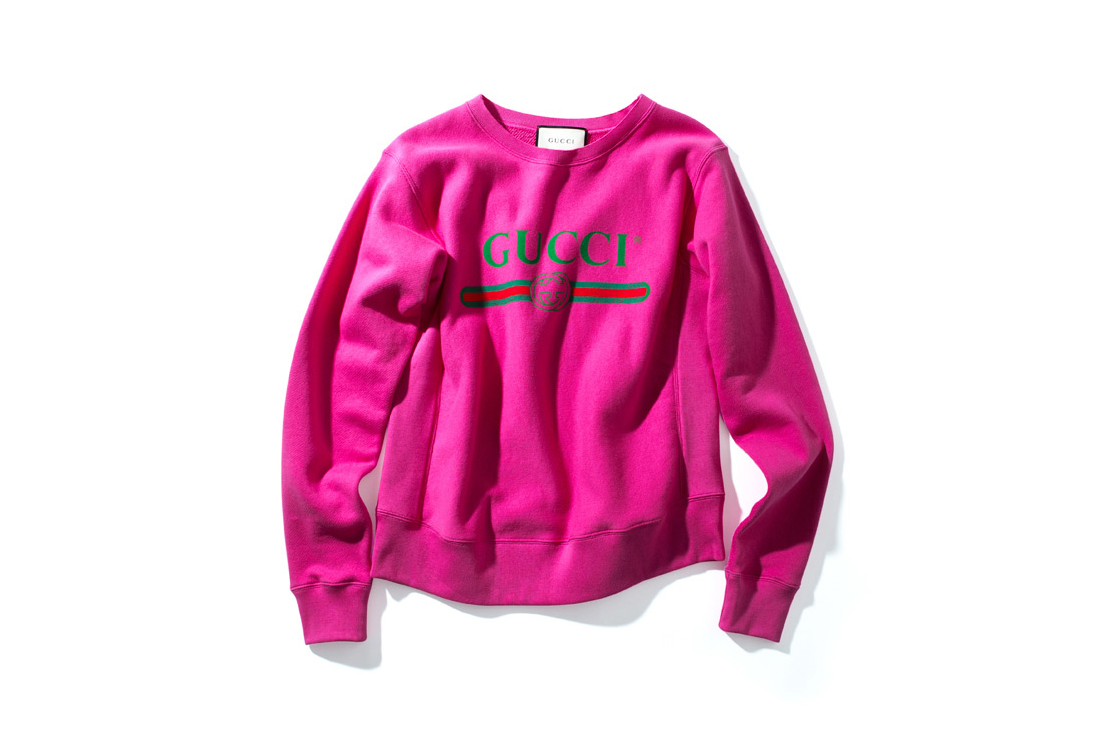 Gucci Vintage Logo Pink Sweatshirt