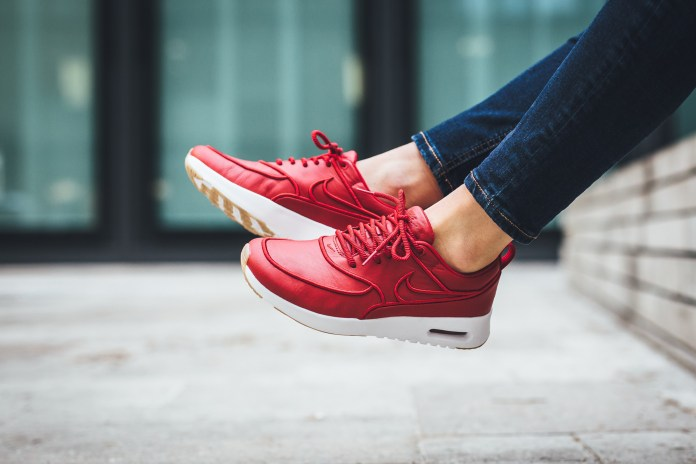 """This Nike Air Max Thea Is Red Hot in """"Gym Red"""""""