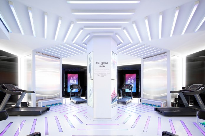 Take a Look Inside NIKE + RUN CLUB's Futuristic Shanghai Pop-Up