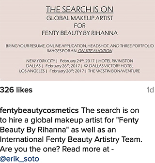 Rihanna Fenty Beauty Makeup Instagram