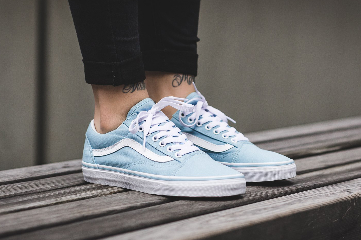 vans old skool blue leather couch