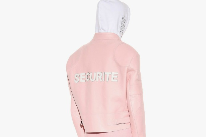 """Vetements """"Securite"""" Leather Jacket May Be the Prettiest & Pinkest of the Season"""