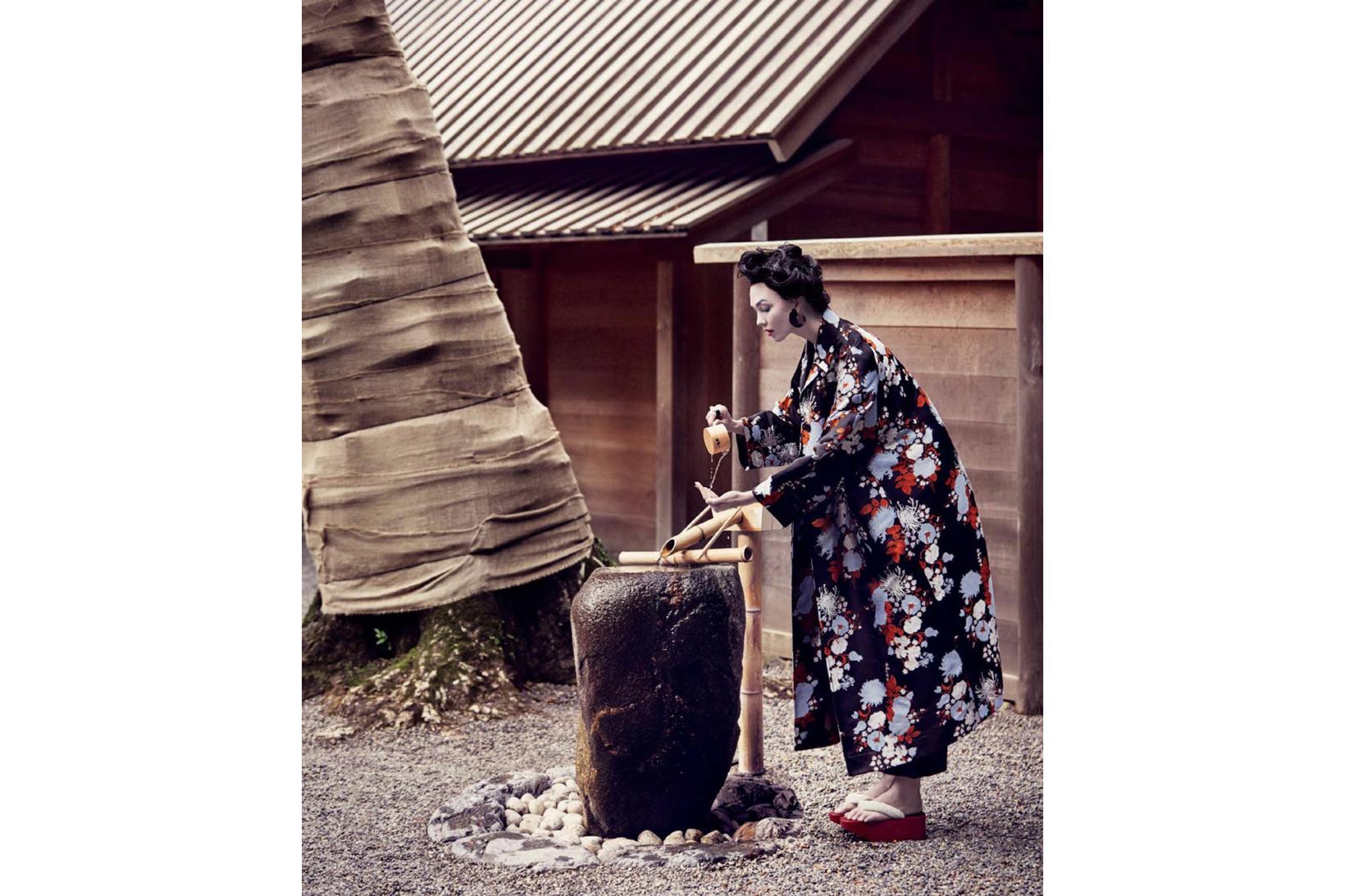 Vogue Karlie Kloss Geisha 2017 March Issue