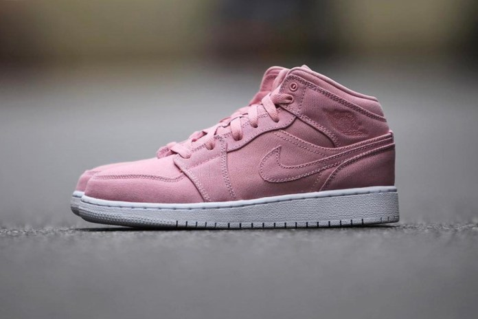 This Ladies-Only Air Jordan 1 Mid Is Blushing with Pastel Pink