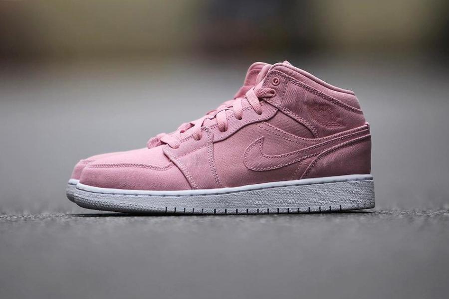 Air Jordan 1 Mid Nike Pastel Pink - 101507