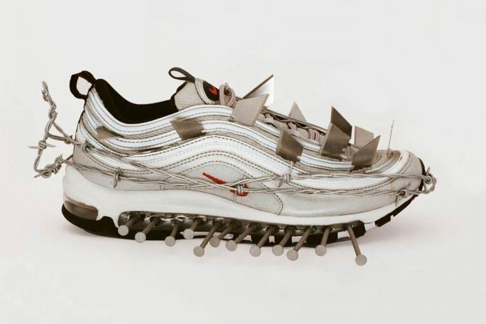 Ava Nirui Made Custom Nike Sneakers Using Barbed Wire, Kevlar and Even Tomato Sauce